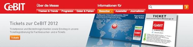 Ihr kostenloses e-Ticket zum Besuch der CeBIT 2012