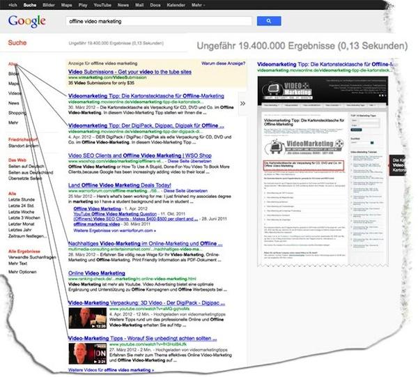 SEO-Suchmaschinenoptimierung und Video-Marketing führen schneller in die Top 10 der Suchmaschinen