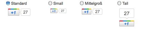 Google +1 Button erstellen und auf Website einbinden